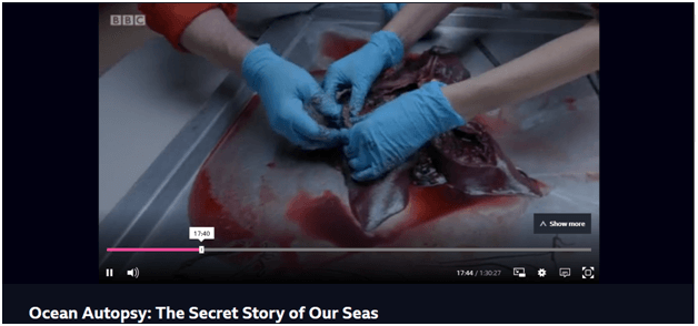 Watching Ocean Autopsy: The Secret of Our Seas on NordVPN's Great Dunmow server