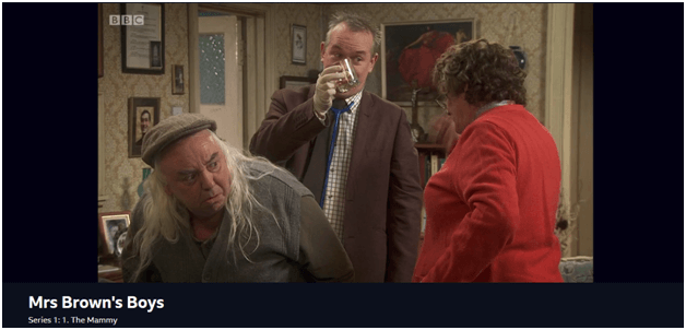 Streaming Mrs Brown's Boys on NordVPN's Great Dunmow server