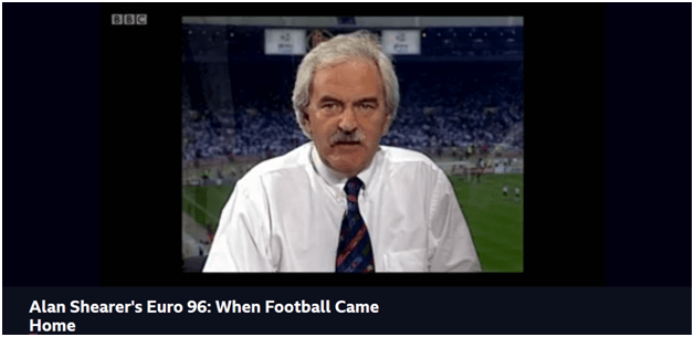Streaming Alan Shearer's Euro 96: When Football Came Home on Surfshark's Manchester server